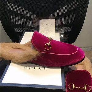 Gucci ace velvet slippers brand new